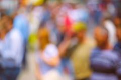 Αφηρημένο πλήθος θαμπάδων των ανθρώπων στην οδό Στοκ Εικόνες