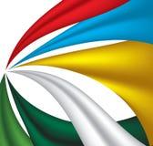 Αφηρημένο πλήρες ύφασμα χρώματος Στοκ εικόνα με δικαίωμα ελεύθερης χρήσης