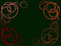 Αφηρημένο πλαίσιο στις πράσινες σειρές του ογκώδους νήματος Στοκ Εικόνα