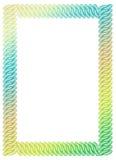Αφηρημένο πλαίσιο χρώματος κλίσης Τέχνη συνδετήρων ράστερ Στοκ Εικόνες