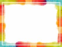 Αφηρημένο πλαίσιο watercolor χρωματισμένη χέρι σύσταση Αφίσα, κάρτα ή πρότυπο πρόσκλησης στοκ εικόνες