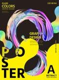 Αφηρημένο ρευστό σχέδιο αφισών χρωμάτων διανυσματική απεικόνιση