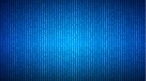 Αφηρημένο ρεύμα του δυαδικού κώδικα μητρών στην μπλε οθόνη binary code computer Έννοια κωδικοποίησης προγραμματισμού της κωδικοπο Απεικόνιση αποθεμάτων