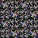 Αφηρημένο ριγωτό σχέδιο με τα διαμάντια στα ριγωτά τετράγωνα Στοκ Εικόνα