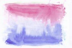 Αφηρημένο ροδανιλίνης υπόβαθρο watercolor σμέουρων ρόδινο και σκούρο μπλε μικτό τζιν Αυτό ` s χρήσιμο για τις ευχετήριες κάρτες Στοκ φωτογραφίες με δικαίωμα ελεύθερης χρήσης