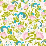 Αφηρημένο ρόδινο σχέδιο με το floral υπόβαθρο Στοκ Φωτογραφίες