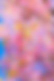 Αφηρημένο ρόδινο υπόβαθρο θαμπάδων λουλουδιών Στοκ Εικόνες