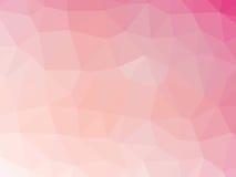 Αφηρημένο ρόδινο χαμηλό διαμορφωμένο πολύγωνο υπόβαθρο κλίσης Στοκ Εικόνες