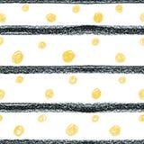 Αφηρημένο Σκανδιναβικό σχέδιο με τα μαύρα λωρίδες και το κίτρινο circ Στοκ Φωτογραφίες