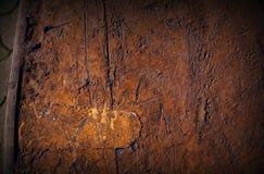 Αφηρημένο σκοτεινό καφετί υπόβαθρο σύστασης τοίχων σύστασης φταμένο Βάρκα στοκ εικόνες