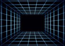 Αφηρημένο σκοτεινό κεραμωμένο υπόβαθρο με μια προοπτική τρισδιάστατη διανυσματική απεικόνιση