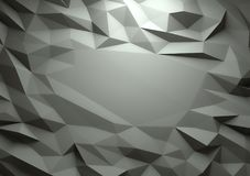 Αφηρημένο σκοτεινό τρισδιάστατο γεωμετρικό χαμηλό πολυ υπόβαθρο Στοκ Φωτογραφία