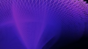 Αφηρημένο σκούρο μπλε υπόβαθρο με τη ζωτικότητα της επιφάνειας δικτύων κυματισμού και δόνησης τρισδιάστατη απόδοση 4k UHD διανυσματική απεικόνιση