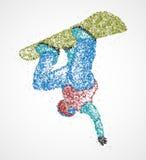 Αφηρημένο σνόουμπορντ ελεύθερης κολύμβησης Στοκ εικόνες με δικαίωμα ελεύθερης χρήσης