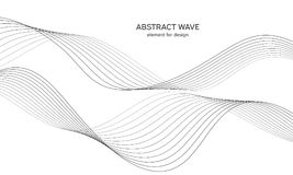 Αφηρημένο στοιχείο κυμάτων για το σχέδιο Ψηφιακός εξισωτής διαδρομής συχνότητας Τυποποιημένο υπόβαθρο τέχνης γραμμών επίσης corel Στοκ Εικόνα