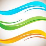 Αφηρημένο στοιχείο σχεδίου κυμάτων χρώματος Στοκ Εικόνες