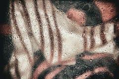 Αφηρημένο στοιχείο σχεδίου για το έμβλημα, τυπωμένη ύλη, πρότυπο, Ιστός, διακόσμηση Σύγχρονο υπόβαθρο στους όμορφους ημίτονους Στοκ φωτογραφία με δικαίωμα ελεύθερης χρήσης