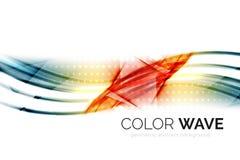 Αφηρημένο στοιχείο σχεδίου κυμάτων χρώματος Στοκ Εικόνα