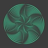 Αφηρημένο στοιχείο spirograph Διανυσματικό Spirograph Στοκ Εικόνες