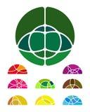 Αφηρημένο στρογγυλό στοιχείο λογότυπων σχεδίου Στοκ φωτογραφία με δικαίωμα ελεύθερης χρήσης