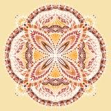 Αφηρημένο συρμένο χέρι mandala Στοκ Εικόνα