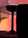Αφηρημένο σχέδιο ανασκόπησης γυαλικών κρασιού Στοκ Εικόνες