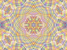 Αφηρημένο σχέδιο γραμμών χρώματος Στοκ Φωτογραφίες