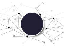 Αφηρημένο σχέδιο εμβλημάτων πολυγώνων υποβάθρου και μαύρο circl Στοκ Εικόνες