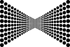 Αφηρημένο σχέδιο κύκλων σε γραπτό Στοκ Φωτογραφία