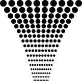 Αφηρημένο σχέδιο κύκλων σε γραπτό Στοκ Εικόνα