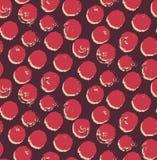Αφηρημένο σχέδιο με το στρογγυλό λεκέ Επανάληψη του υποβάθρου με τα σημεία επισημασμένος Στοκ Εικόνες
