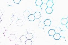 Αφηρημένο σχέδιο μορίων απεικόνιση αποθεμάτων