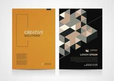 Αφηρημένο σχέδιο σχεδιαγράμματος προτύπων φυλλάδιων Στοκ Φωτογραφίες