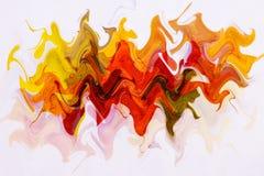 Αφηρημένο σχέδιο των ζωηρόχρωμων κυμάτων Υπόβαθρο επίδρασης γραμμών χρώματος κορδελλών ουράνιων τόξων Αφηρημένες μορφές κορδελλών στοκ φωτογραφίες με δικαίωμα ελεύθερης χρήσης