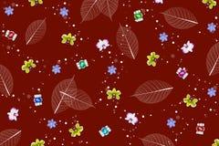 Αφηρημένο σχέδιο υποβάθρου, φύλλων και λουλουδιών στο κόκκινο χρώμα τόνου Στοκ εικόνες με δικαίωμα ελεύθερης χρήσης