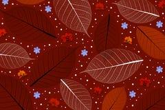 Αφηρημένο σχέδιο υποβάθρου, φύλλων και λουλουδιών στο κόκκινο χρώμα τόνου Στοκ φωτογραφία με δικαίωμα ελεύθερης χρήσης
