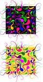 Αφηρημένο σχέδιο χρώματος με τα στοιχεία γυρίνων ελεύθερη απεικόνιση δικαιώματος