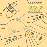 Αφηρημένο σχέδιο από τους διαφορετικούς αριθμούς απεικόνιση αποθεμάτων