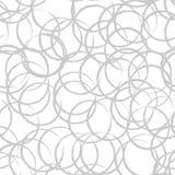 Αφηρημένο σχέδιο δαχτυλιδιών Άνευ ραφής διανυσματικό υπόβαθρο κύκλων Στοκ εικόνες με δικαίωμα ελεύθερης χρήσης