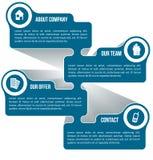 Αφηρημένο σχέδιο για τις πληροφορίες επιχείρησης διανυσματική απεικόνιση