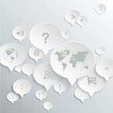 Αφηρημένο σχέδιο γραφικό διάνυσμα λεκτικής ομιλίας προσώπων φυσαλίδων Στοκ φωτογραφίες με δικαίωμα ελεύθερης χρήσης