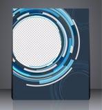 Αφηρημένο σχέδιο ιπτάμενων επιχειρησιακών φυλλάδιων A4 στο μέγεθος, σχέδιο κάλυψης σχεδιαγράμματος στα μπλε χρώματα ελεύθερη απεικόνιση δικαιώματος