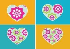 Αφηρημένο σχέδιο ιδέας γραμμών εικονιδίων καρδιών και συμβόλων καρδιών διανυσματική απεικόνιση
