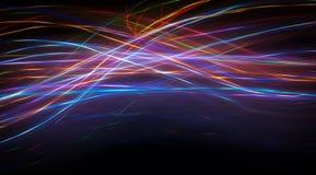 Αφηρημένο σχέδιο καρδιών με το φως Στοκ Εικόνες