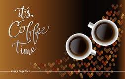Αφηρημένο σχέδιο καφέ με τα φασόλια ελεύθερη απεικόνιση δικαιώματος