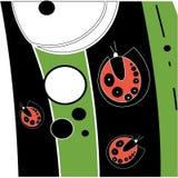Αφηρημένο σχέδιο με τα ladybugs ελεύθερη απεικόνιση δικαιώματος