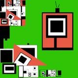 Αφηρημένο σχέδιο με τα ladybugs διανυσματική απεικόνιση