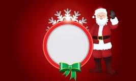 Αφηρημένο σχέδιο με snowflake και Άγιο Βασίλη και διάστημα για το κείμενο Στοκ Εικόνα