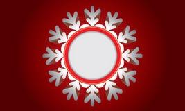 Αφηρημένο σχέδιο με snowflake και διάστημα για το κείμενο Στοκ Φωτογραφίες