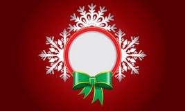 Αφηρημένο σχέδιο με snowflake και διάστημα για το κείμενο Στοκ Εικόνες